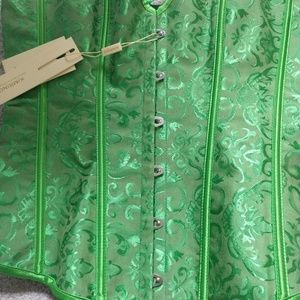 Nwt green corset